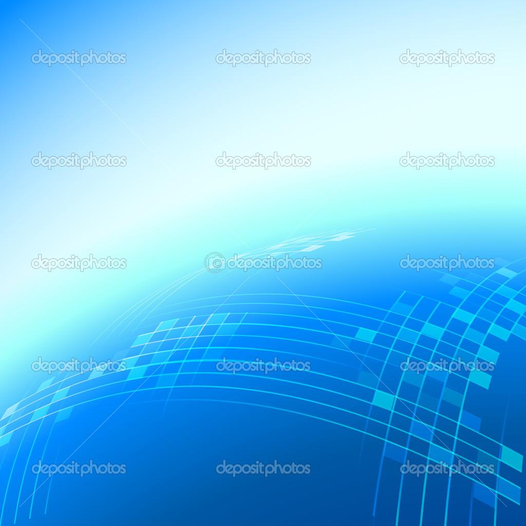 蓝色抽象背景 — 矢量图片作者