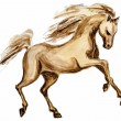 Horse in motion, watercolor painting  — Stock Photo