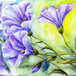Wildflowers. Watercolor painting. — Stock Photo
