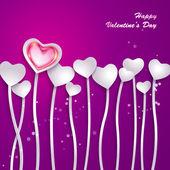 Flores de papel abstrato em forma de coração — Vetorial Stock