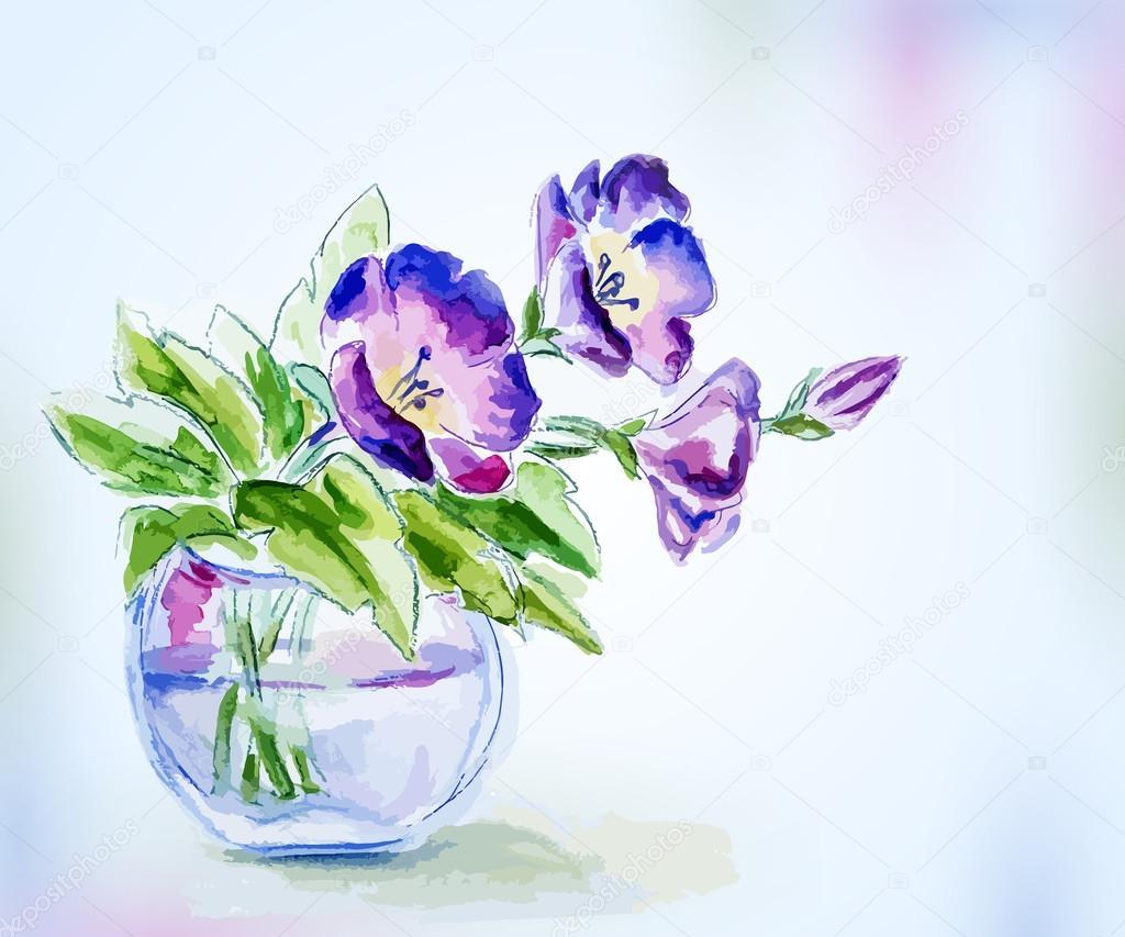 Рисунки с цветочками на открытке