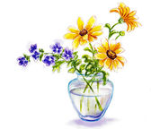 Spring flowers in vase — Stock Photo