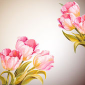 Tulips. Spring flowers invitation template card — Stockfoto
