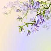 Plantilla de tarjeta de primavera flores invitación — Foto de Stock