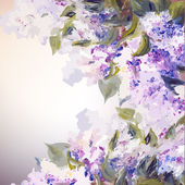 Lilac flowers background. — Stock Vector