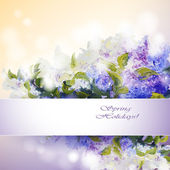 Lilac flowers background — Stock Vector