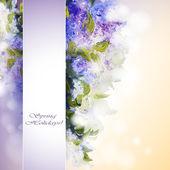 Sfondo fiori lilla — Vettoriale Stock