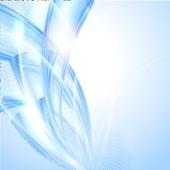 抽象的な青い波背景 — ストックベクタ