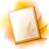 осенний фон рамки — Cтоковый вектор