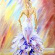 Beautiful woman at the ball. Oil painting. — Stock Photo #48842111