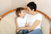 Mom and young son — Stock Photo