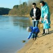 Family near water — Stock Photo