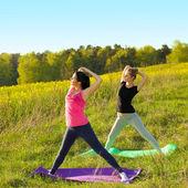 Yoga women — Stock Photo