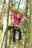 Girl engaged climbing — Stock Photo