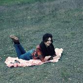 Hippi kız — Stok fotoğraf