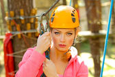 Girl climber — Stock Photo