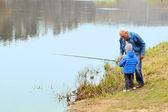 家族の釣り — ストック写真