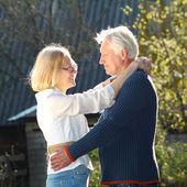Elderly couple in love — Stock Photo