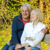 Elderly couple in love — Stock Photo