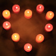Heart of Candles — Stock Photo #1108348