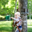 Little boy at a canopy tour — Stock Photo #13170079