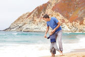 Father and son at the beach — Stock Photo