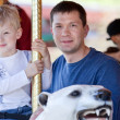 Family at the amusement park — Stock Photo #22667003