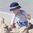 Little kid at the beach — Stock Photo
