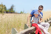 Family hiking — Stock Photo