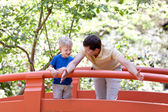 Father and son together — Stock Photo