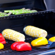 Foto Stock: Grilling vegetables