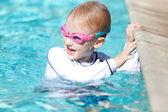 Boy at the pool — Стоковое фото