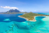 French polynesia from helicopter — Stock Photo