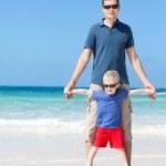Family at the beach — Stock Photo #30127749