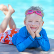 Child by the pool — Stock Photo