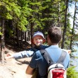 Family hiking — Stock Photo