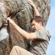 Man bouldering — Stock Photo