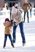 Family at winter — Stock Photo