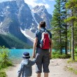 Hiking in canada — Stock Photo