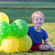 boy with balloons — Stock Photo