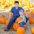 Family at the pumpkin patch — Stock Photo #33212697