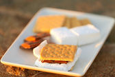 Smores and its ingredients — Stock Photo