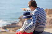 Family by the sea — Stock Photo