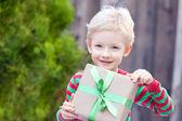 Boy at christmas time — Stock Photo