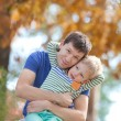 Family at fall — Stockfoto