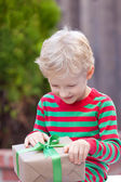 Boy at christmas time — Stock Photo