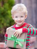 Boy at christmas time — Stockfoto