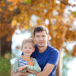 Family at fall — Stock Photo
