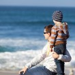 Family at the beach — Stock Photo #36232961
