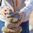 Stock Photo: Stacking stones
